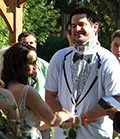 Brennan and Lisa Lazzaretto marry in the Marianjoy Rose Garden.